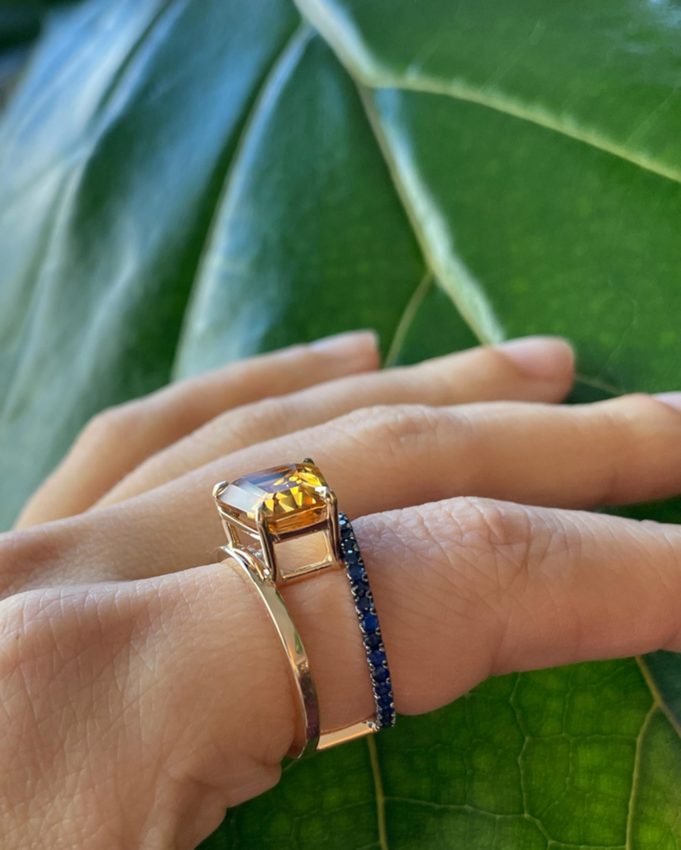 Selin Kent Citrine & Sapphire Pera Ring 2
