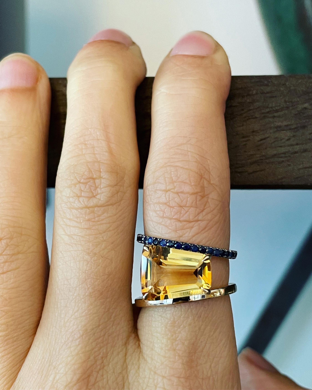 Selin Kent Citrine & Sapphire Pera Ring 1