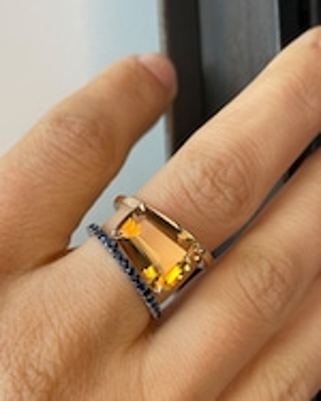 Selin Kent Citrine & Sapphire Pera Ring 3