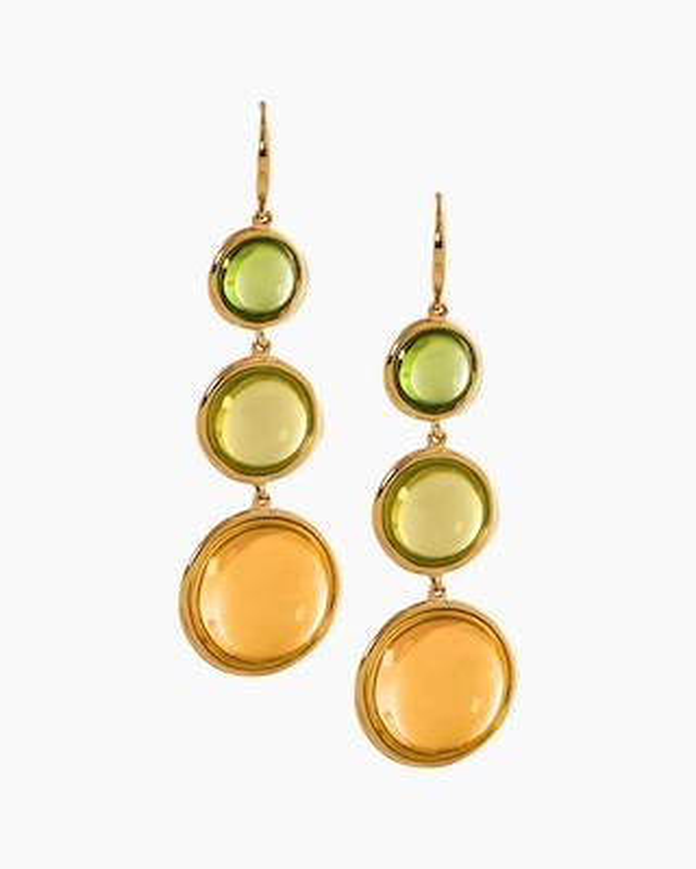 Goshwara Gemstone Multi-Tier Disc Earrings 1