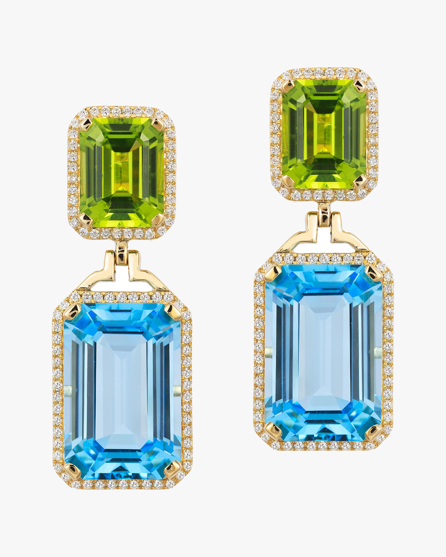 Goshwara Diamond & Blue Topaz Emerald-Cut Earrings 0