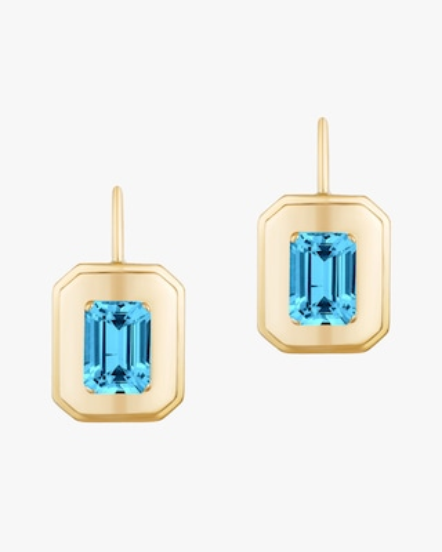 Goshwara Queen Emerald-Cut Earrings 1