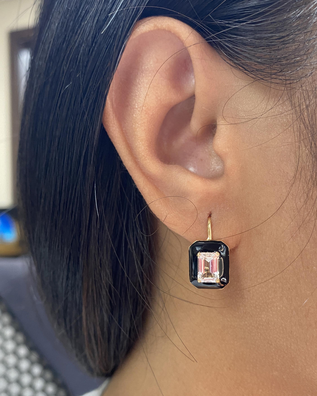 Goshwara Queen Emerald-Cut Earrings 2