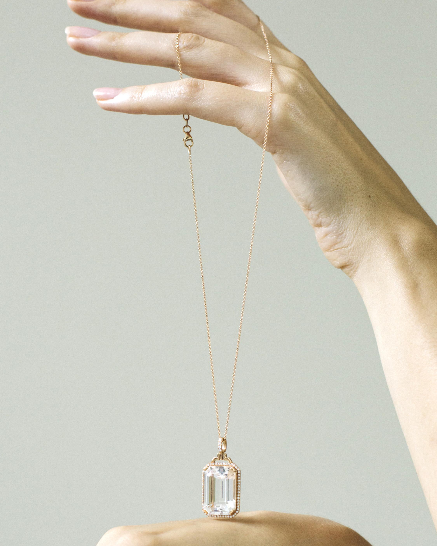 Goshwara Crystal & Diamond Pendant Necklace 2