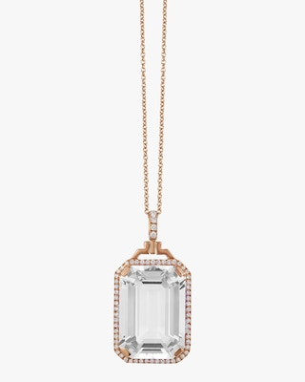 Goshwara Crystal & Diamond Pendant Necklace 1