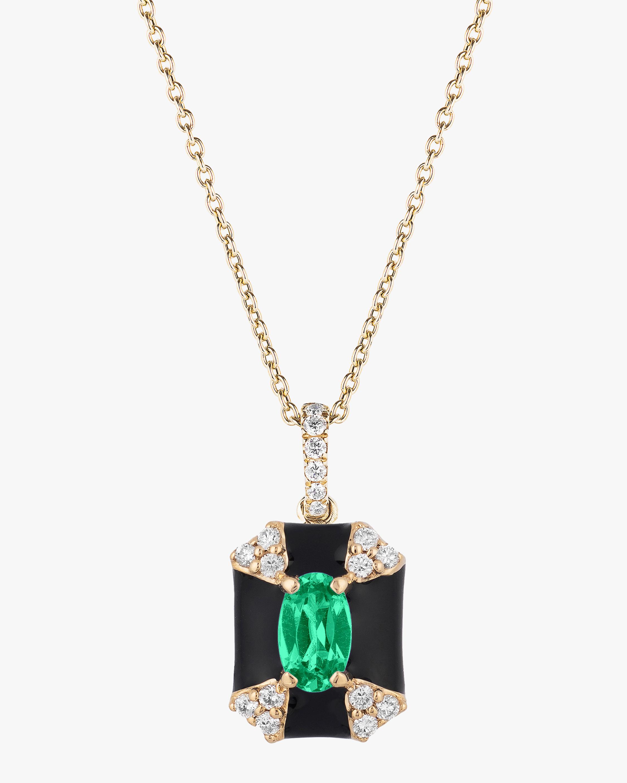 Goshwara Queen Oval Emerald Pendant Necklace 0