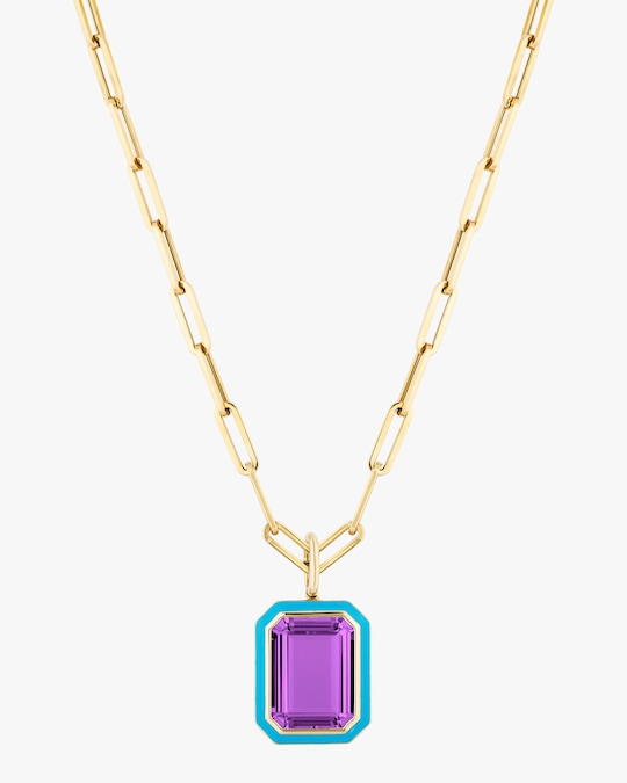 Goshwara Queen Amethyst Pendant Necklace 0