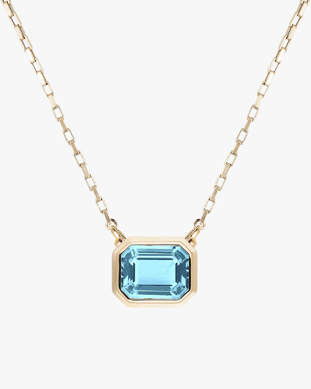 Goshwara Manhattan Blue Topaz Pendant Necklace 2
