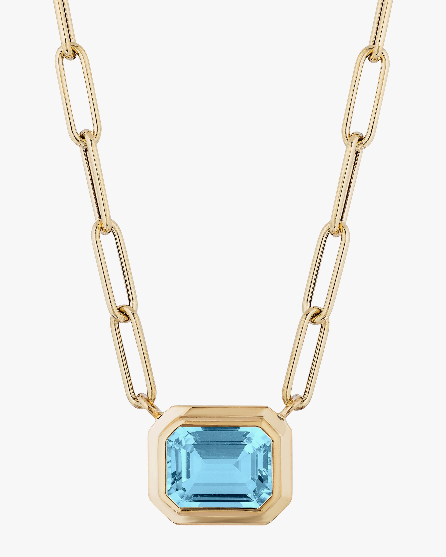 Goshwara Manhattan Blue Topaz Pendant Necklace 1