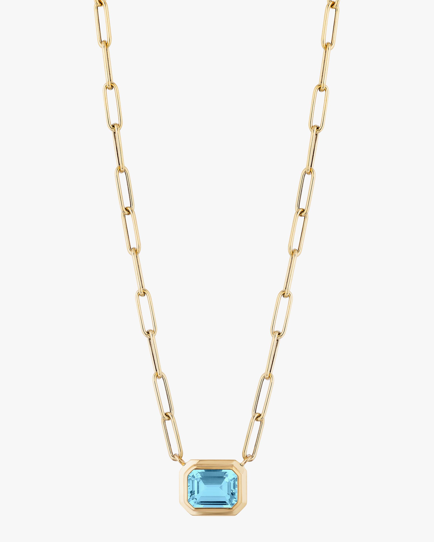 Goshwara Manhattan Blue Topaz Pendant Necklace 0