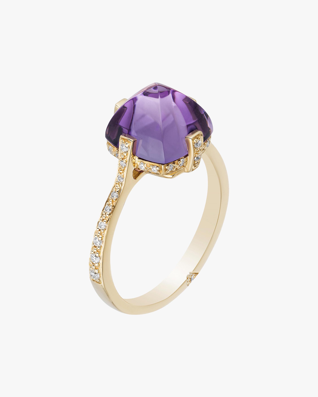 Goshwara Sugarloaf Amethyst & Diamond Ring 1