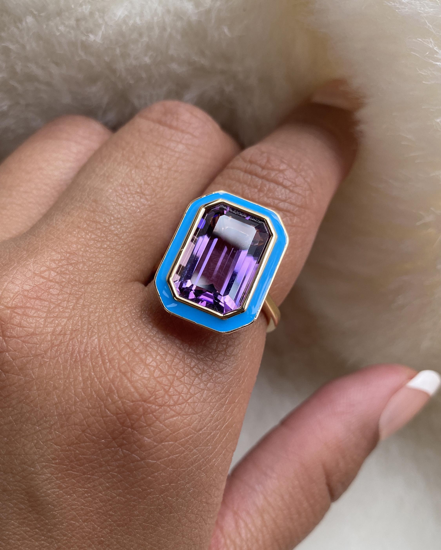 Goshwara Queen Crystal & Amethyst Ring 2