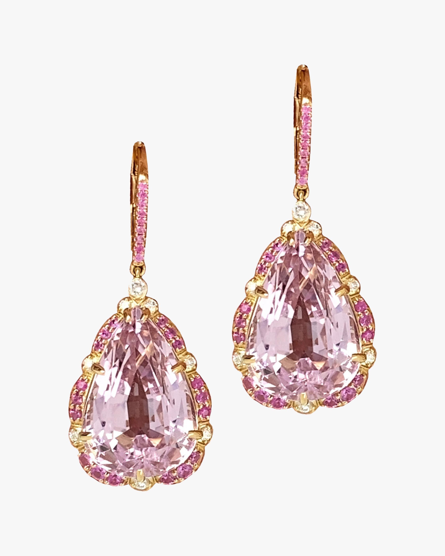 Goshwara One of a Kind Kunzite & Diamond Drop Earrings 0