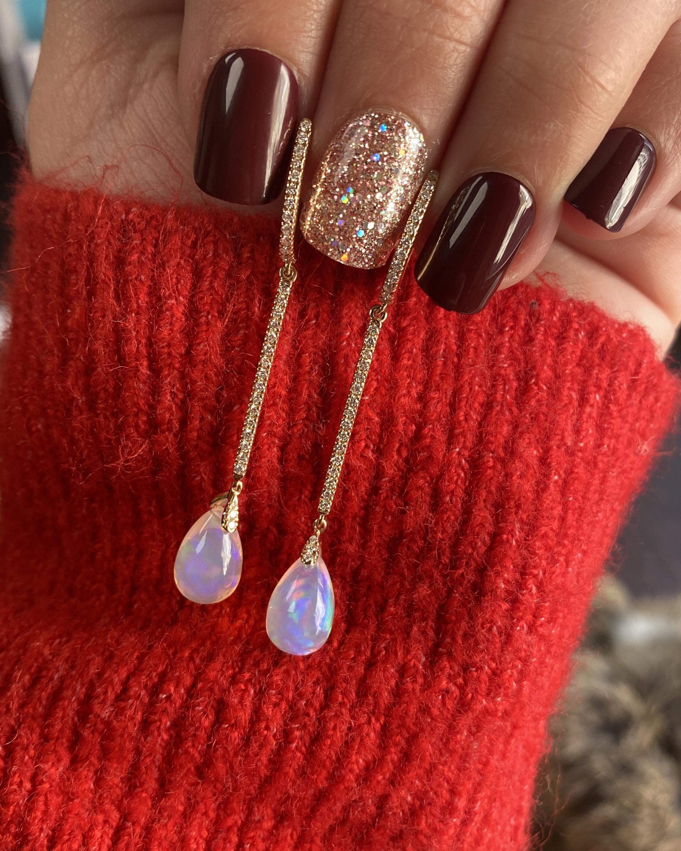Goshwara Limited Edition Diamond & Opal Drop Earrings 2