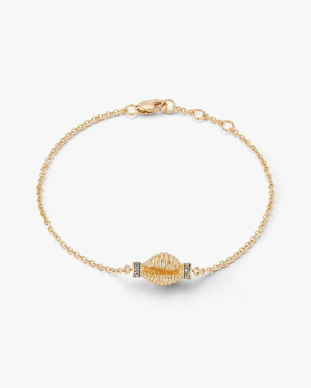 Renna Blue Topaz Thread & Shell Bracelet 0