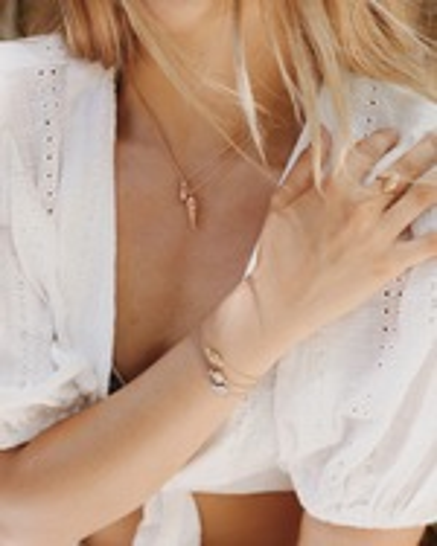 Renna Blue Topaz Thread & Shell Bracelet 2