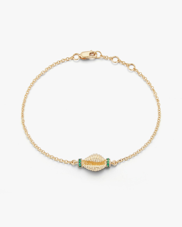 Renna Emerald Thread & Shell Bracelet 0