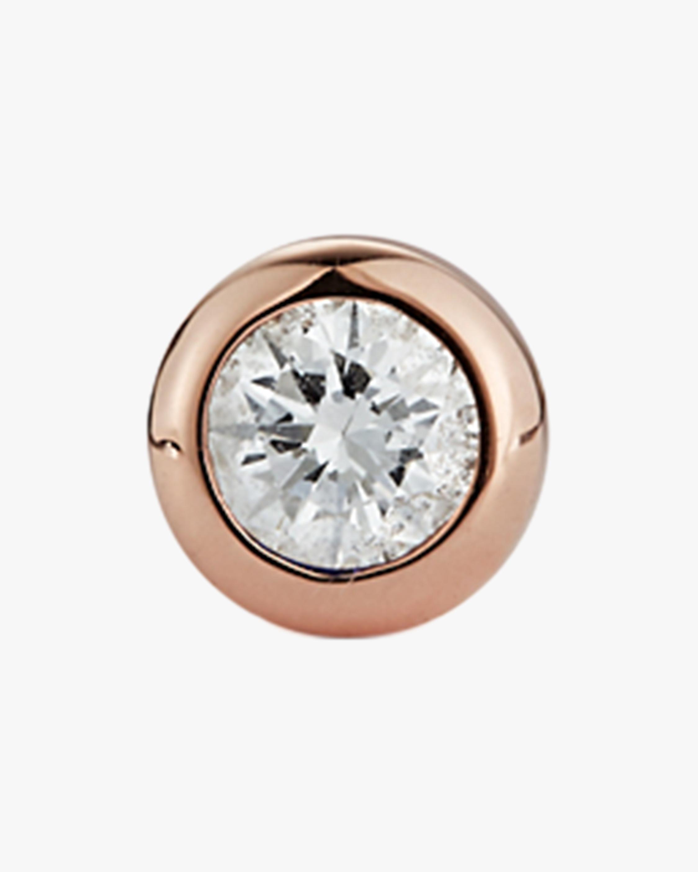 Renna Single Diamond Bezel Stud Earring 2