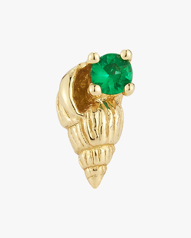 Renna Single Emerald Bitsy Ursula Stud Earring 0