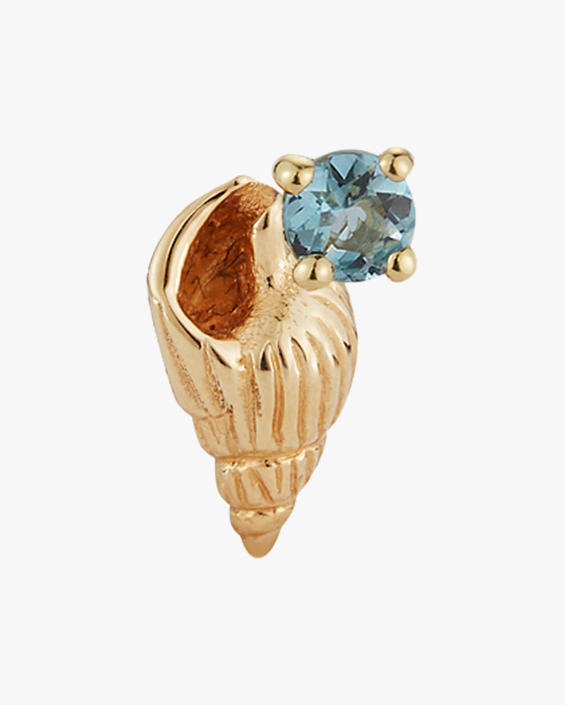 Renna Single Aquamarine Bitsy Ursula Stud Earring 1