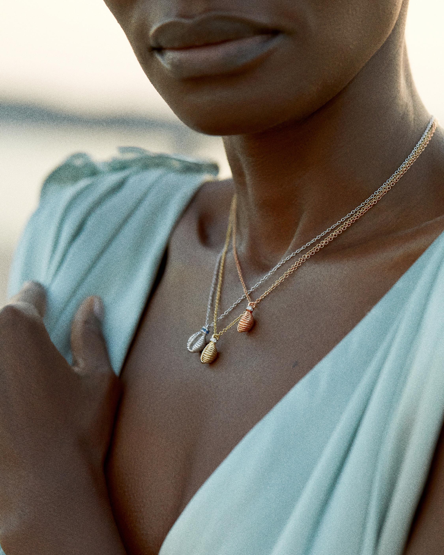 Renna Diamond & Gemstone Thread & Shell Necklace 1