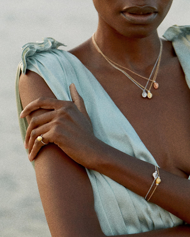 Renna Sapphire Thread & Shell Necklace 2