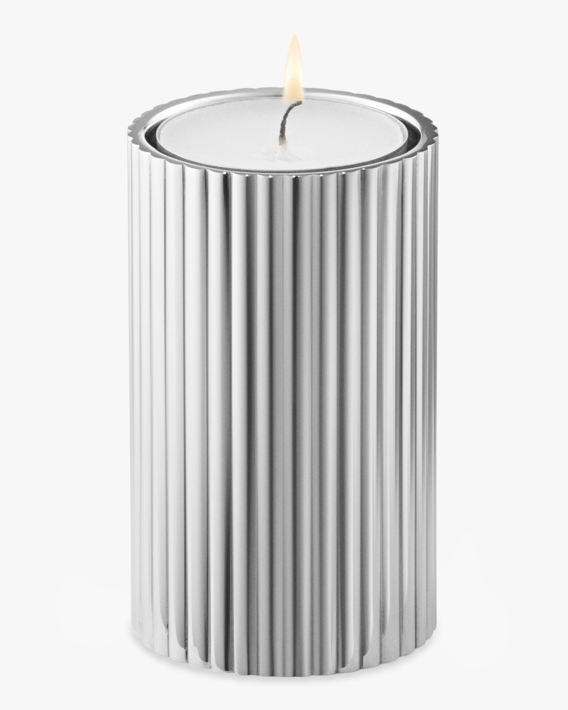 Georg Jensen Bernadotte Stainless Steel Tealight & Candle Holder - 3in 2