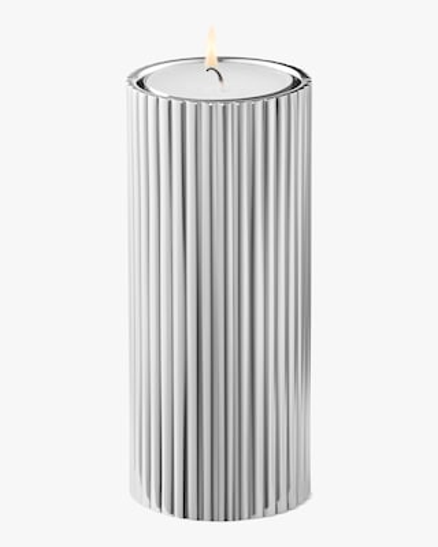 Georg Jensen Bernadotte Stainless Steel Tealight & Candle Holder - 4in 2