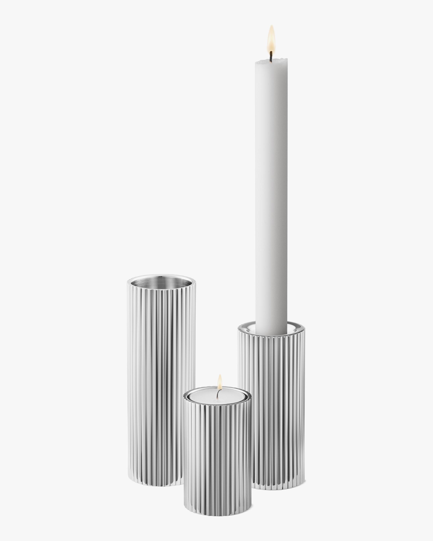 Georg Jensen Bernadotte Tealight & Candle Holder Set 0
