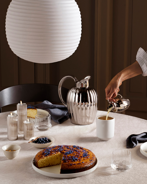Georg Jensen Bernadotte Tealight & Candle Holder Set 2