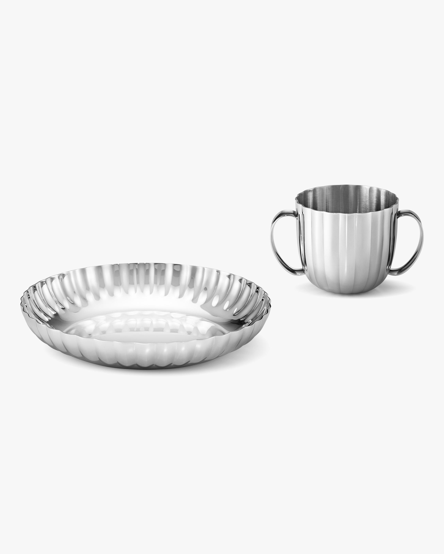 Georg Jensen Bernadotte Child's Plate & Cup Set 1