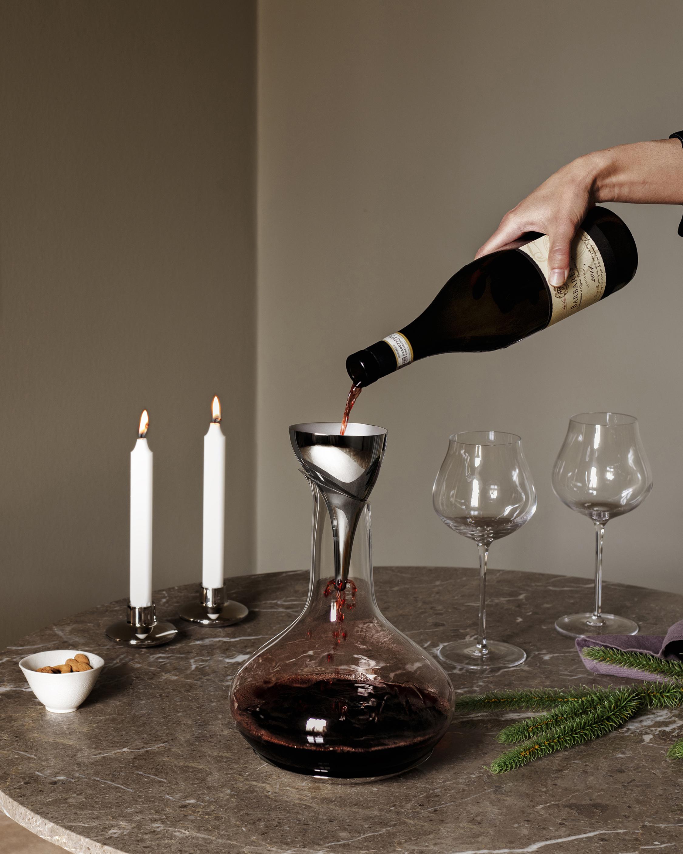 Georg Jensen Sky Wine Decanter Filtered Funnel 2