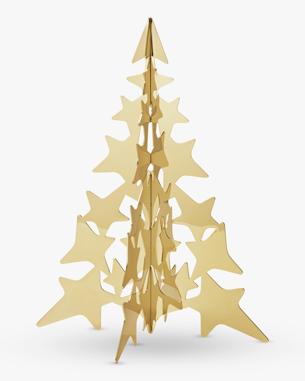 Georg Jensen Christmas Collection 2021 Gold Tree Star - Medium 1