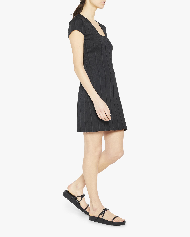 Theory Square-Neck Mini Dress 4
