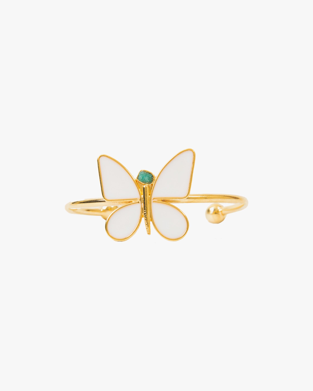 Vanessa Arcila White Butterfly Emerald Bracelet 0