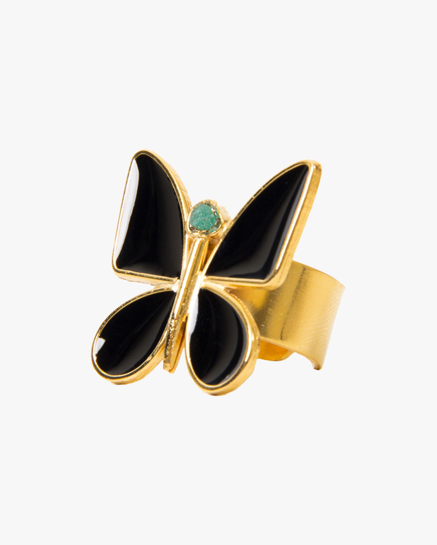 Vanessa Arcila Black Butterfly Emerald Ring 1