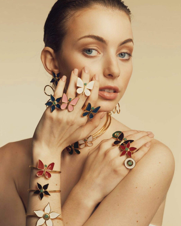 Vanessa Arcila Black Butterfly Emerald Ring 2