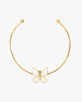 Vanessa Arcila White Butterfly Effect Necklace 1