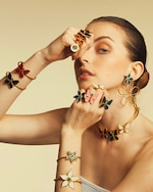 Vanessa Arcila White Butterfly Emerald Necklace 1
