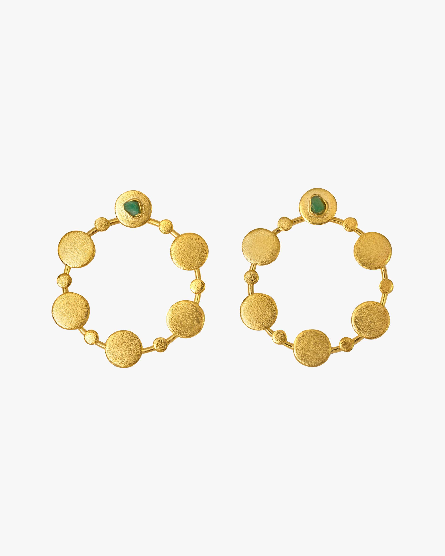 Vanessa Arcila Sophia 2-in-1 Emerald Earrings 0
