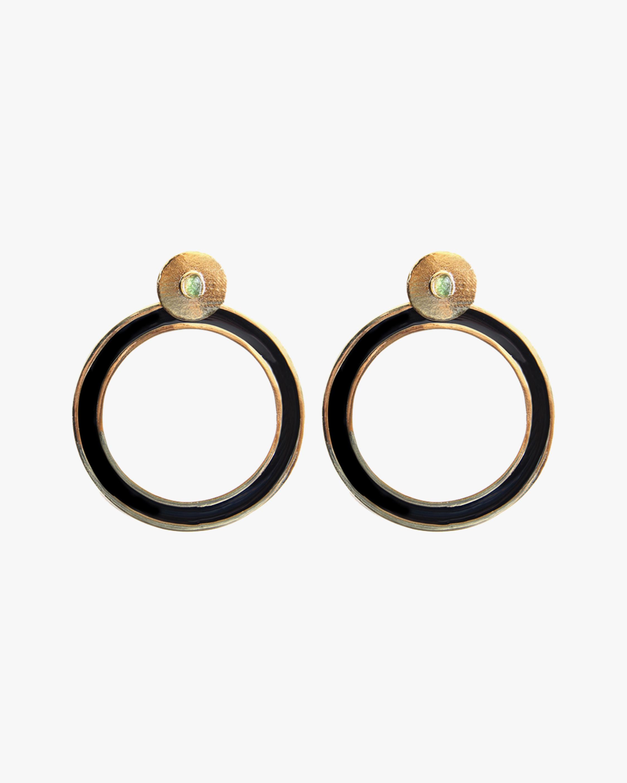 Vanessa Arcila Black Circle 2-in-1 Earrings 2