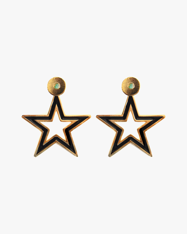 Vanessa Arcila Black Star 2-in-1 Earrings 1