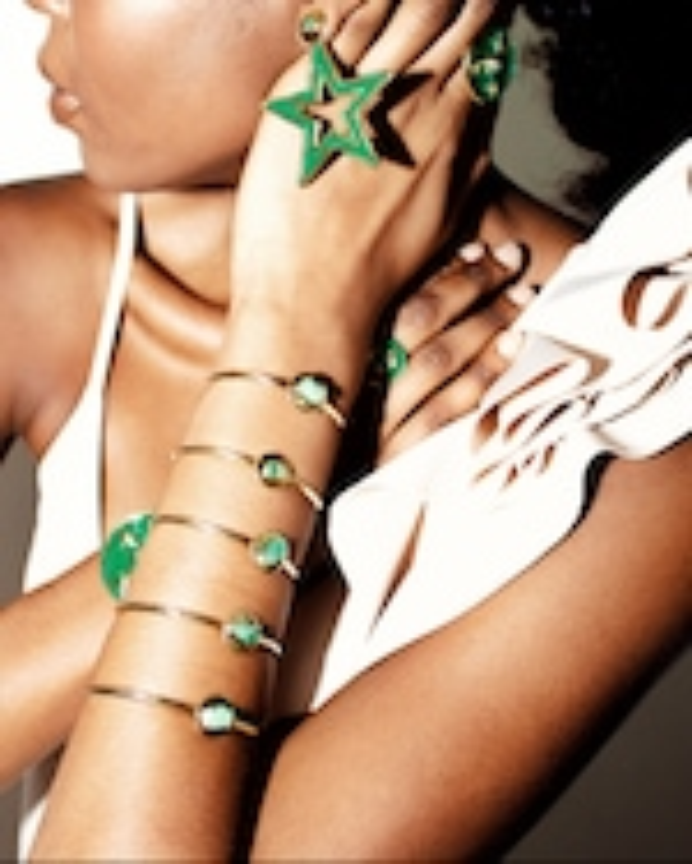 Vanessa Arcila Star 2-in-1 Emerald Earrings 1