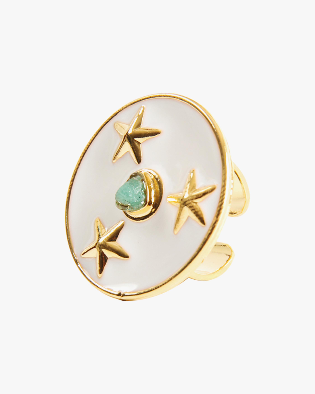 Vanessa Arcila White Lyra Emerald Ring 1