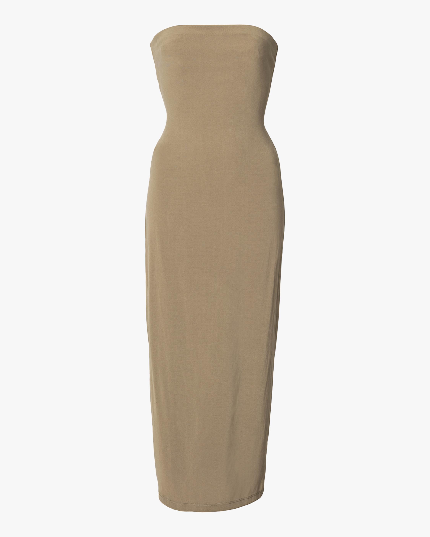 Anemos The Strapless Tie-Back Midi Dress 1