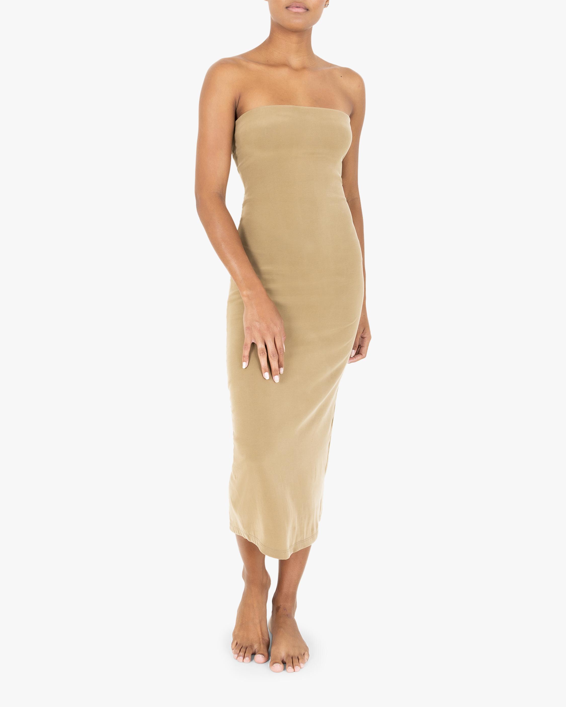 Anemos The Strapless Tie-Back Midi Dress 2