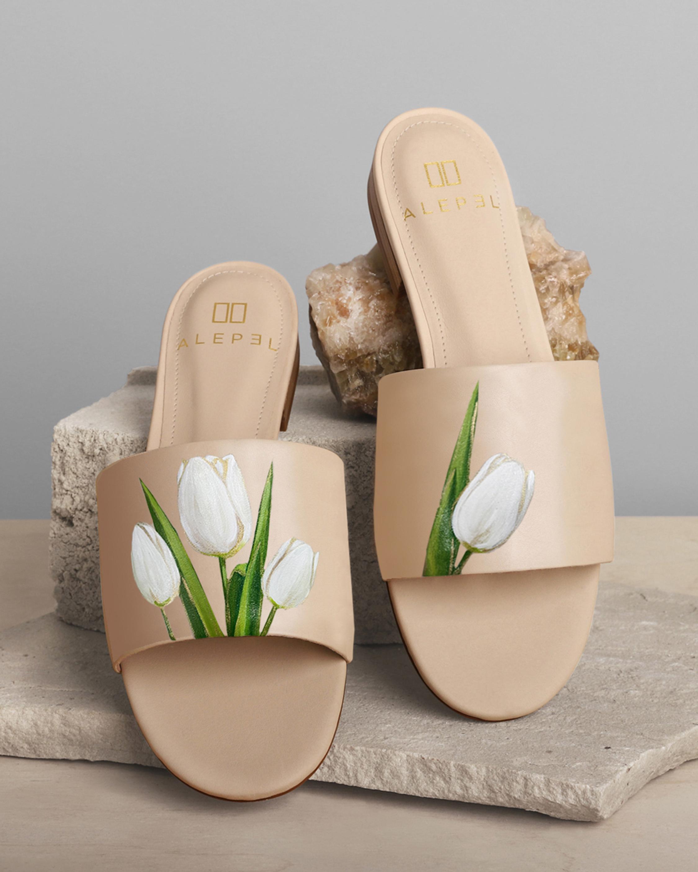 Alepel Tulip Round-Toe Slide 0