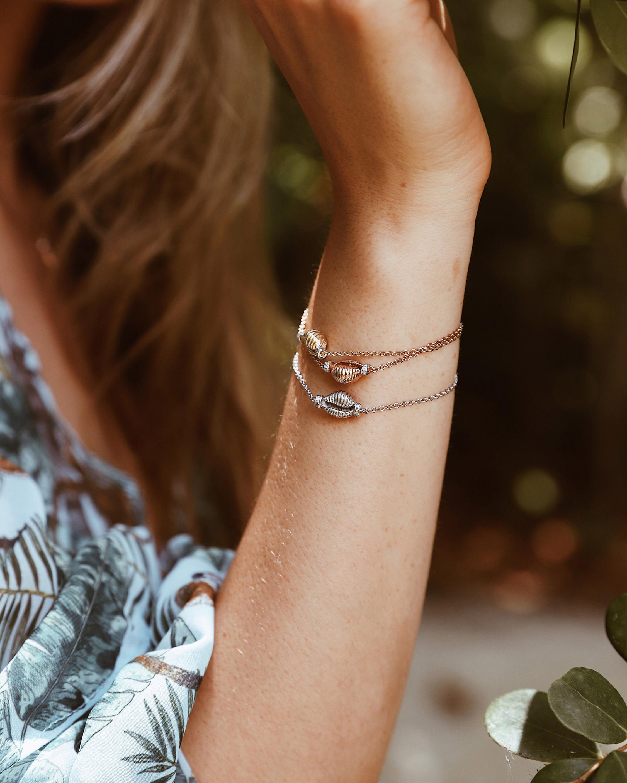 Renna Thread & Shell Diamond Bracelet 2