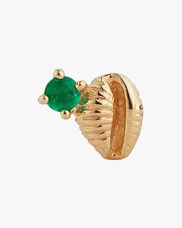 Renna Single Bitsy Bean Emerald Stud Earring 1