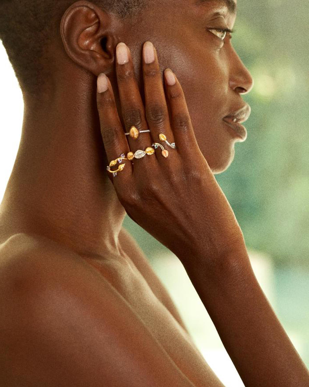 Renna Thread & Shell Diamond Ring 2